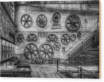 Dinorwig Quarry Workshop V2 Wood Print by Adrian Evans
