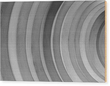 Dirty Circles Wood Print by KM Corcoran