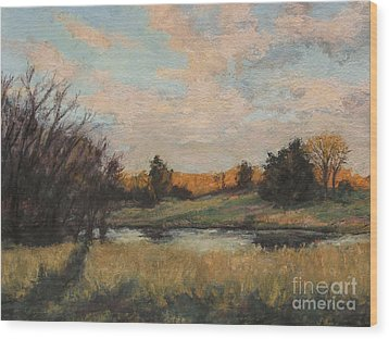 Distant Glow Wood Print by Gregory Arnett