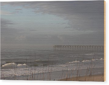 Distant Pier Wood Print by Static Studios