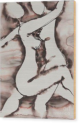 Divine Love Series No. 1411 Wood Print by Ilisa  Millermoon