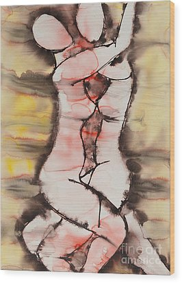 Divine Love Series No. 1412 Wood Print by Ilisa  Millermoon