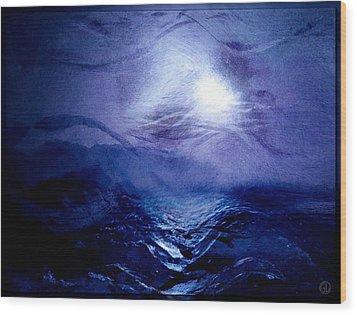 Diving Into The Blue Wood Print by Gun Legler