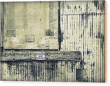 Do Not Block Door Wood Print by Valentino Visentini