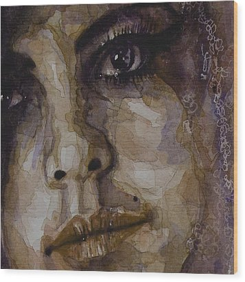 Do You Think Of Her When Your With Me Wood Print by Paul Lovering