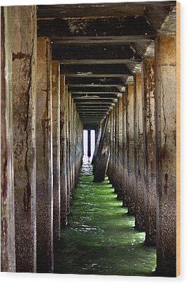 Dock Of The Bay Wood Print by Bill Gallagher