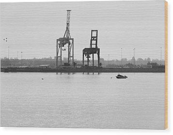 Docks Wood Print by Svetlana Sewell