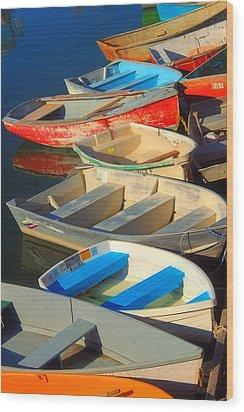 Dockside Parking Wood Print by Joann Vitali