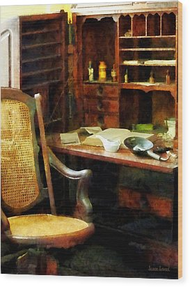 Doctor - Doctor's Office Wood Print by Susan Savad
