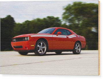 Dodge Challenger Wood Print by Bill Cannon