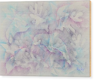 Dolphins At Play Wood Print by Veronica Rickard
