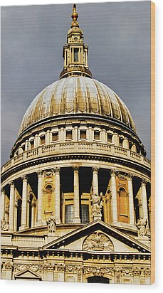 Dome Of St. Paul's Cathedral Wood Print by Christi Kraft