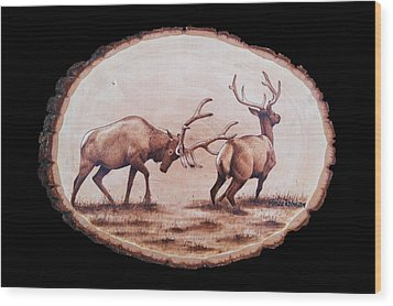 Dominance Wood Print by Minisa Robinson