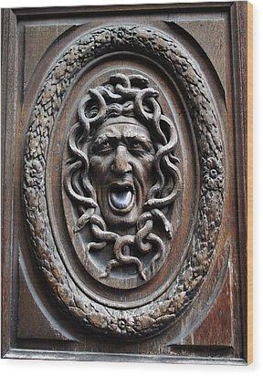 Door In Paris Medusa Wood Print by A Morddel