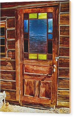 Doorway To The Past Wood Print by Omaste Witkowski