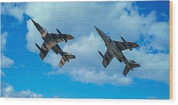 Dornier Alpha Jets Wood Print by Bianca Nadeau