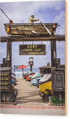 Dory Fishing Fleet Market Newport Beach California Wood Print by Paul Velgos