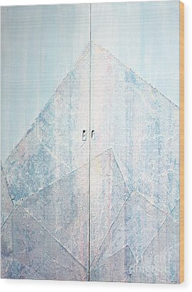 Double Doors To Peaceful Mountain Wood Print by Asha Carolyn Young