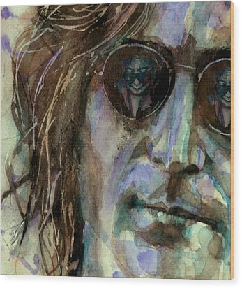 Double Fantasy Wood Print by Paul Lovering