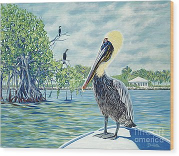 Down In The Keys Wood Print by Danielle  Perry