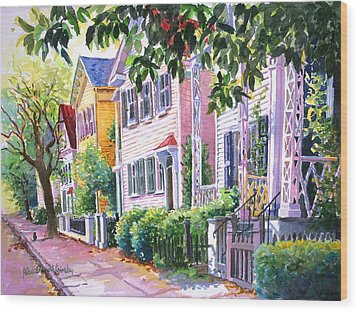 Down On Franklin Street Wood Print by Alice Grimsley