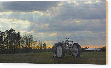 Down On The Farm Wood Print by Mike McGlothlen
