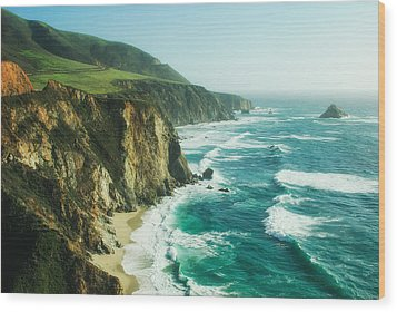 Down The Pacific Coast Highway... Wood Print by Photography  By Sai