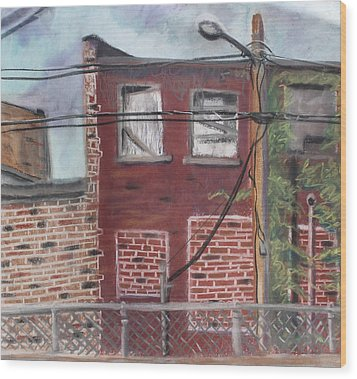 Downtown Warrensburg Wood Print by Billy Granneman