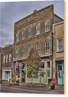 Dowtown General Store Wood Print by Heather Applegate