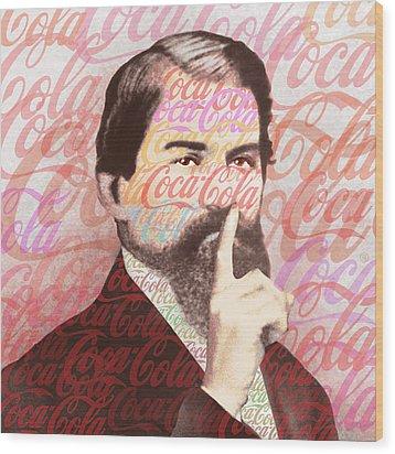 Dr. John Pemberton Inventor Of Coca-cola Wood Print by Tony Rubino