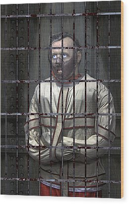 Dr. Lecter Restrained Wood Print by Daniel Hagerman