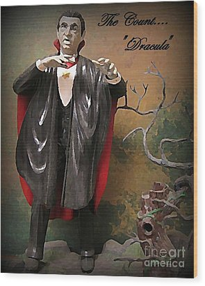 Dracula Model Kit Wood Print by John Malone