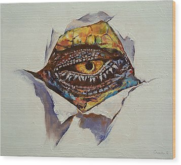 Dragon Eye Wood Print by Michael Creese