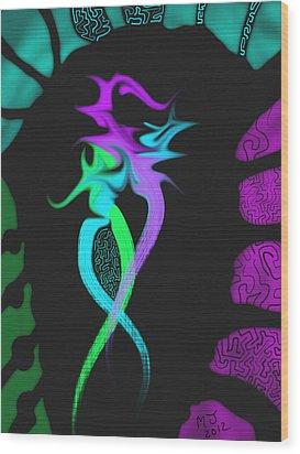 Dragon Wood Print by Michael Jordan