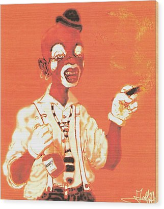 Dream Face Wood Print by George Harrison