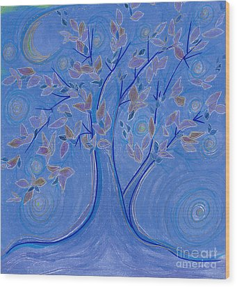 Dreaming Tree By Jrr Wood Print by First Star Art