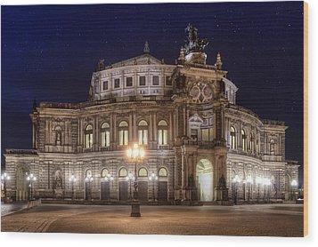 Dresden Semperopera Wood Print by Steffen Gierok