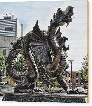 Drexel University Dragon Wood Print by Bill Cannon