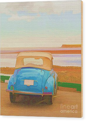 Drive To The Shore Wood Print by Edward Fielding