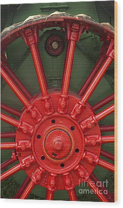 Drive Wheel Wood Print by Paul W Faust -  Impressions of Light