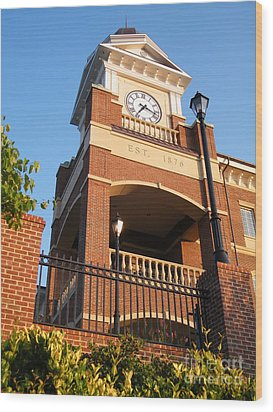 Duluth Clock Tower Wood Print by Cheryl Hardt Art