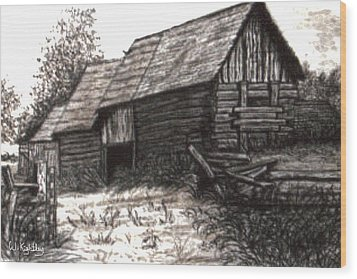 Dunchurch Farm Wood Print by Wanda Kightley