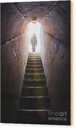 Dungeon Exit Wood Print by Carlos Caetano