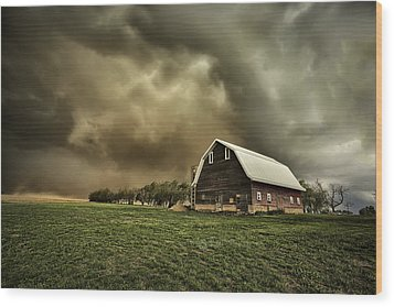Dusty Barn Wood Print by Thomas Zimmerman