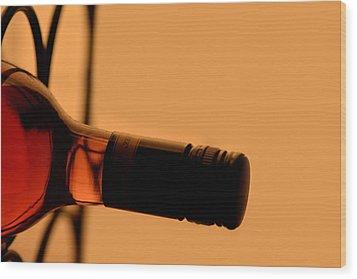 Dusty Bottle Wood Print by Toppart Sweden