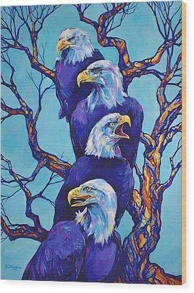 Eagle Tree Wood Print by Derrick Higgins