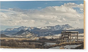 Eagles Nest Wood Print by Daniel Hebard