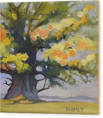 Earlysville Virginia Ancient White Oak Wood Print by Catherine Twomey