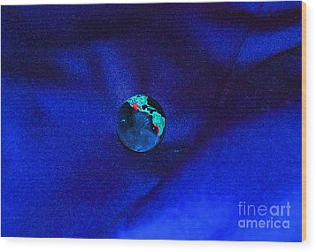 Earth Alone Wood Print by First Star Art