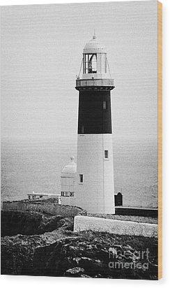 East Light Lighthouse Altacarry Altacorry Head Rathlin Island  Wood Print by Joe Fox